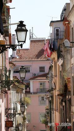 Traditional streets in Bairro Alto - Lisbon