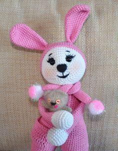 Amigurumi coelho em pijama - padrão de crochê