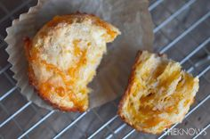 Gluten free sour cream cheddar muffins - with a secret flavor ingredient!