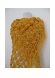 Hand made  hand crochet mohair shawl in seashell by KnitAndWedding, $78.00