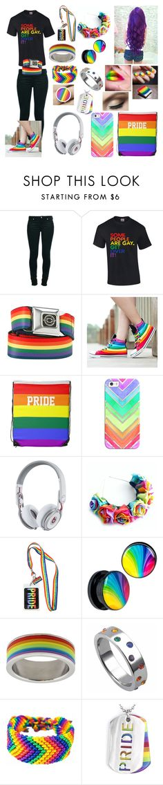 """Gay Pride"" by cupcake125 ❤ liked on Polyvore featuring 7 For All Mankind, Casetify, Beats by Dr. Dre, JewelGlo, West Coast Jewelry, women's clothing, women's fashion, women, female and woman"