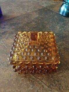 Amber hobnail vintage cigarette box Vintage Cigarette Case, Cigarette Box, Hermes Birkin, Thrifting, Amber, Antiques, Store, Bags, Antiquities