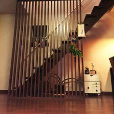 yuyuさんの、格子,器と植物,観葉植物,観葉植物のある生活,グリーンインテリア,ストリップ階段,階段,和モダン,欄干,Overview,のお部屋写真