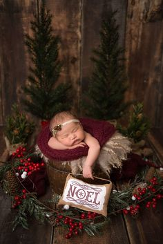 Newborn Christmas Pictures, Family Christmas Pictures, Cute Baby Pictures, Newborn Pictures, Christmas Baby, Xmas, Girl Photo Shoots, Christmas Photography, Newborn Baby Photography