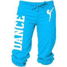 Activewear\ Apparel Juniors Dance Capri Sweats S-L ❤ liked on Polyvore