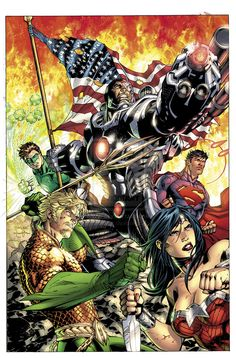 Justice League No.5 Combo by Jim Lee, Scott Williams and Alex Sinclair