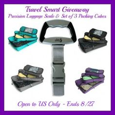 Win the EatSmart travel luggage scale AND the TravelWise Packing Cube System; got to get me the scale!