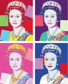 "Queen Elizabeth II from Andy Warhol's ""Reigning Queens"" Collection"