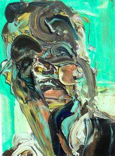 "Saatchi Online Artist: jenny chisholm; Oil, 2011, Painting ""head study 10"""