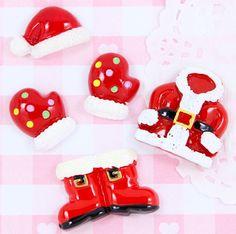 5 x Santa Outfit Father Christmas Flatback Cabochon Embellishment Kawaii Craft - £2.10 #xmas #crafting #crafts #kawaii #bling #embellishments #cheapcrafts #kidscraft #DIYchristmas #flatback #cute #festive #homemadexmas #homemadechristmas #santa #fatherchristmas