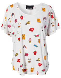 Sticker oversize slop tee from Lazy Oaf