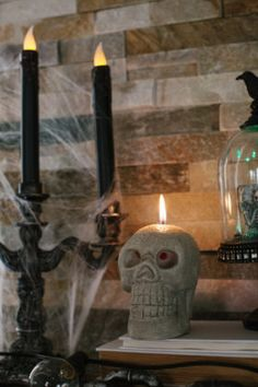 Spooky Chic Halloween Mantel Decorations
