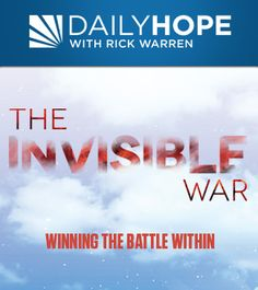 Why is everything in life so hard? Why does doing the right thing often feel like a battle? In this series, Pastor Rick shares insights from God's Word about the unseen spiritual forces working against us; the invisible war between good and evil. This series will help you win the battle within.