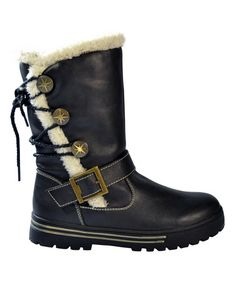 Another great find on #zulily! Black Toggle Orange Boot #zulilyfinds