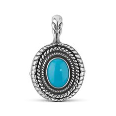 Sterling Silver Turquoise Interchangeable Pendant Enhancer *** Find out more about the great product at the image link.