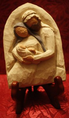 This single piece carved nativity also hints of Ruby's trek into the Smoky Mountains.