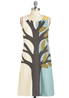 Wild and Tree Dress. Feel unfettered even by the seasons each time you rock this swing dress by Heel Athens Lab, a novelty brand based in Greece. #multi #modcloth