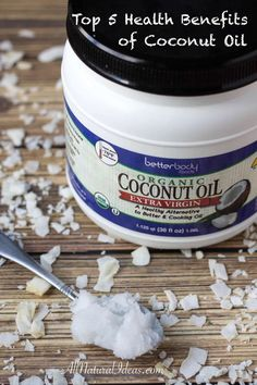 Let's examine the top five health benefits of coconut oil in diet. Coconut oil is loaded with healthy saturated fats that are readily available for energy. | allnaturalideas.com via @allnaturalideas