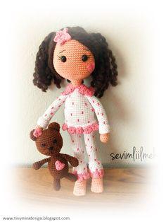 Mesmerizing Crochet an Amigurumi Rabbit Ideas. Lovely Crochet an Amigurumi Rabbit Ideas. Doll Amigurumi Free Pattern, Crochet Dolls Free Patterns, Crochet Doll Pattern, Crochet Toys, Easy Crochet Projects, Stuffed Toys Patterns, Handmade Toys, Pyjamas, Mini