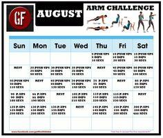 August Arm Challenge!!