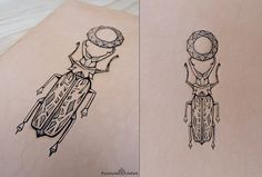 Tattooed+leather+art.+Handmade.+Inked+with+a+by+PuncturedArtefact,+£55.00