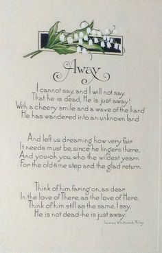 """Away"" by James Whitcomb Riley"