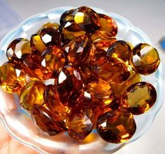Lot Of 10 Pieces Faceted Citrine Quartz Cut Loose Gemstones Approx 140 Cts. B