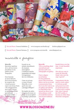 Le creazioni di Miurcilla e Fiorificio, imprenditoria femminile Zine, Blog, Blogging