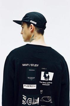 "thisisneverthat Fall/Winter 2014 ""NAVY/STUDY"" Lookbook Korean Streetwear, Streetwear Mode, Streetwear Fashion, Shirt Print Design, Tee Shirt Designs, Tee Design, Graphic Design, Printed Shirts, T Shirts"