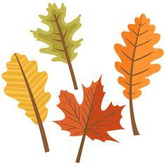 Fall Leaves Set SVG scrapbook cut file cute clipart files for silhouette cricut pazzles free svgs free svg cuts cute cut files