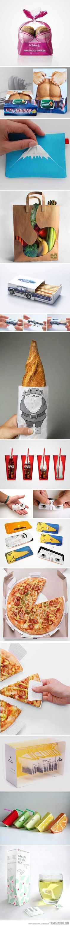 Creative Packaging Ideas.... COOL! #Awesome :D