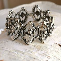 Your place to buy and sell all things handmade Brutalist, Link Bracelets, Fashion Bracelets, Etsy Store, Pewter, Things To Come, Finland, 1970s, Vintage