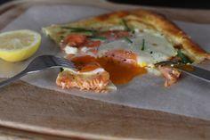 Salmon and creme fraiche tart | thekc.co.nz