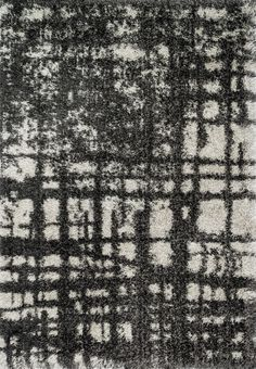 Barcelona Shag Charcoal / Ivory 3Ft 9In X 5Ft 6In Rug