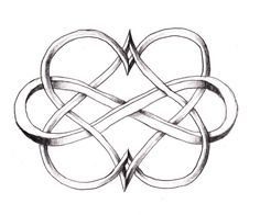 Infinity double heart Tattoo #tat #ink #beauty #fashion #celtic #tribal #skin #love