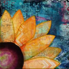 Sunflower  Digital Art Collage by Artsy Lynn