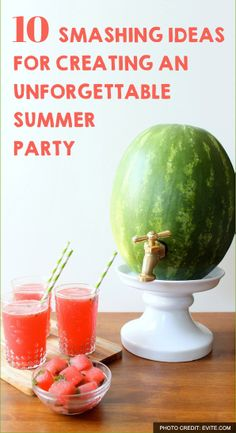 I'm so doing these for my next party. Everyone will be talking :) http://lifeasmama.com/10-smashing-ideas-to-create-an-unforgettable-summer-party/