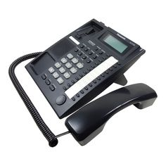 Panasonic Telephone Twenty Four Programmable Keys Backlit LCD Display Compatiable With And Telephone Systems Office Phone, Telephone, Landline Phone, Black, Phone, Black People