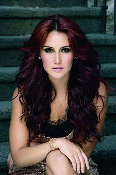 Dark purplish hair