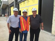 Howard with Steve Chamberlain and Doug Johnston of Colart visiting BINDERS at Ponce City Market