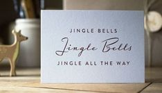 Jingle All The Way, Christmas Bells, Jingle Bells, Place Cards, Place Card Holders