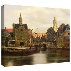 ArtWall Johannes Vermeer 'View of Delft II' Gallery-wrapped