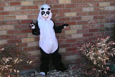 How to Make a Homemade Panda Costume. You can create a cute panda costume in a few hours. Although the instructions given are for a child's costume, you can adapt the pattern to fit an adult.
