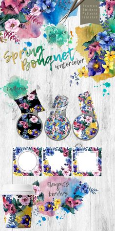 Get new Spring Bouquet PNG Watercolor Flower Set Bundle. All illustrations highly detailed. Aquarelle elements could be used for background, texture, pattern, frame or border.#pngillustrations #watercolorpng https://www.templatemonster.com/bundles/spring-bouquet-png-watercolor-flower-set-bundle-68679.html/