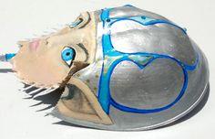Painted horseshoe crab elf by ArtsybeeBoutique on Etsy