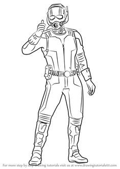 How to Draw Ant Man from Captain America Civil War step by step, learn drawing by this tutorial for kids and adults is part of Marvel drawings - Superman Coloring Pages, Avengers Coloring Pages, Marvel Coloring, Cartoon Coloring Pages, Disney Coloring Pages, Coloring Pages For Kids, Coloring Books, Kids Coloring, Captain America Drawing