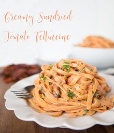 A lightened up version of our favorite pasta dish at Cheesecake Factory! Sundried tomato fettuccine is SO creamy and delicious. No guilt here!