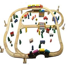100 pcs wooden thomas electric train train track toy educational toys Features : Remote Control,Musical,FlashingRoller Shades : TankState of Assembly : Ready-to Railroad Industry, Trains For Sale, Hobby Trains, Electric Train, Miniature Plants, Layout, Great Hobbies, Roller Shades, Train Set