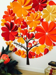 Items similar to Wedding Guest Book Alternative Guest Book - Fall Wedding Guest Book Alternative- Autumn Wedding on Etsy Diy And Crafts, Crafts For Kids, Paper Crafts, Paper Tree, Deco Floral, Wedding Guest Book Alternatives, Wedding Paper, Flower Crafts, Flower Making
