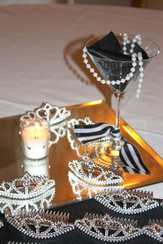 breakfast at tiffany's tiara | Breakfast at Tiffanys Shower - Tiaras for guests to wear....